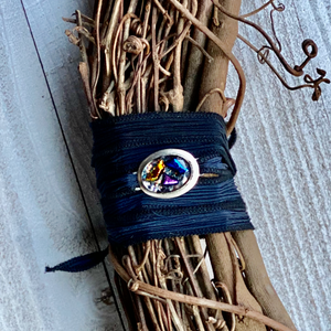Black and Blue Silk wrap