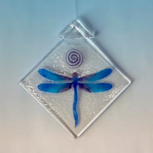 dragonfly, blue-purple