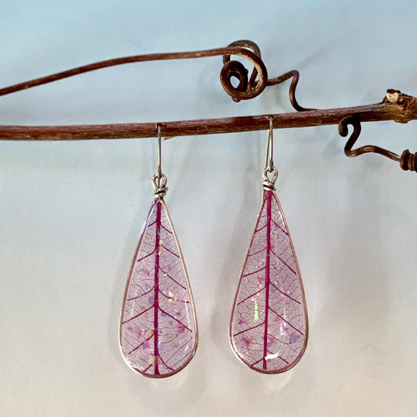 Drop Shaped Leaf Earrings
