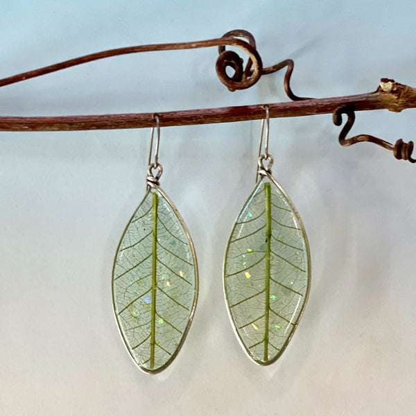 Leaf Shaped Leaf Earrings