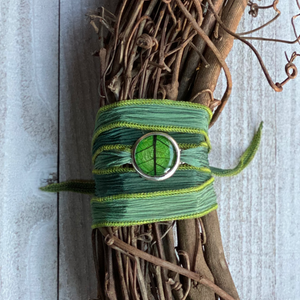 Multi Green Silk wrap