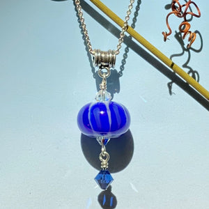 deep royal blue melon, bead over crystal style