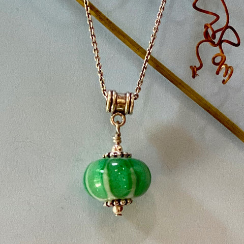 emerald green melon, spacer and ball style