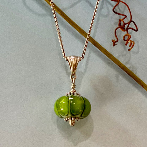 light aventurine spring green melon, spacer and ball style
