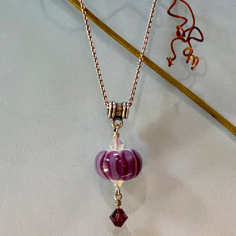 violet melon, bead over crystal style