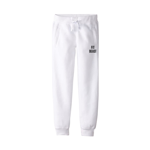 White Fit Beast Joggers