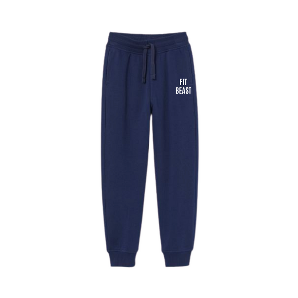 Navy Blue Fit Beast Joggers