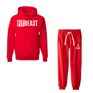 Red Hooded Tracksuit
