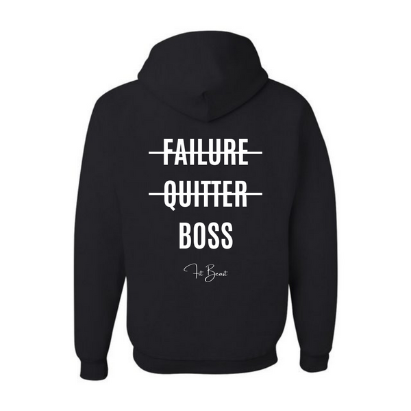 Black and White Big Boss Hoodie