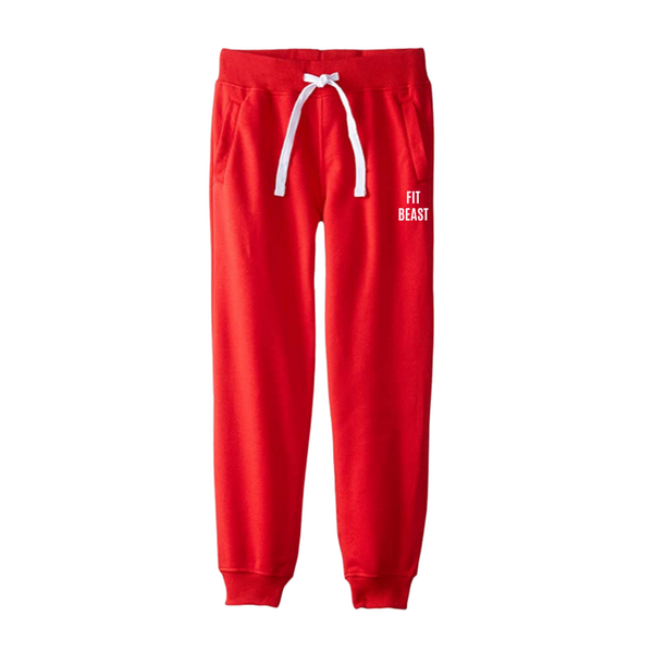 Red Fit Beast Joggers