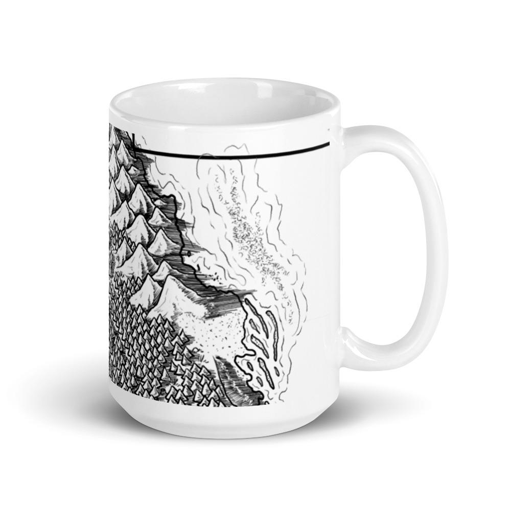 A Sudden Respite Map Mug Mug Deven Rue