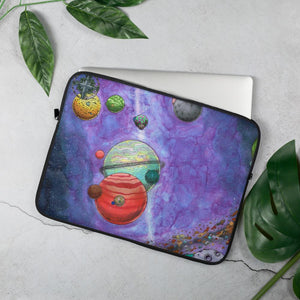 Across the Universe Laptop Sleeve Laptop Sleeve 15 in Deven Rue