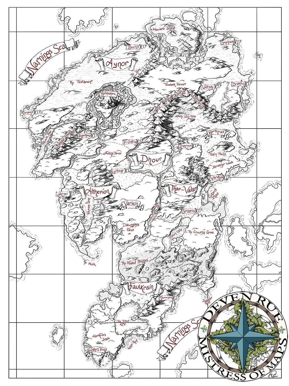 Ayon Printed Map Prop Maps Deven Rue