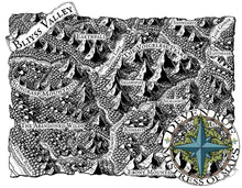 Load image into Gallery viewer, Bliyss Valley Map Map Downloads Black & White Deven Rue
