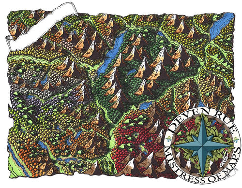 Bliyss Valley Map Map Downloads Color w/o labels Deven Rue