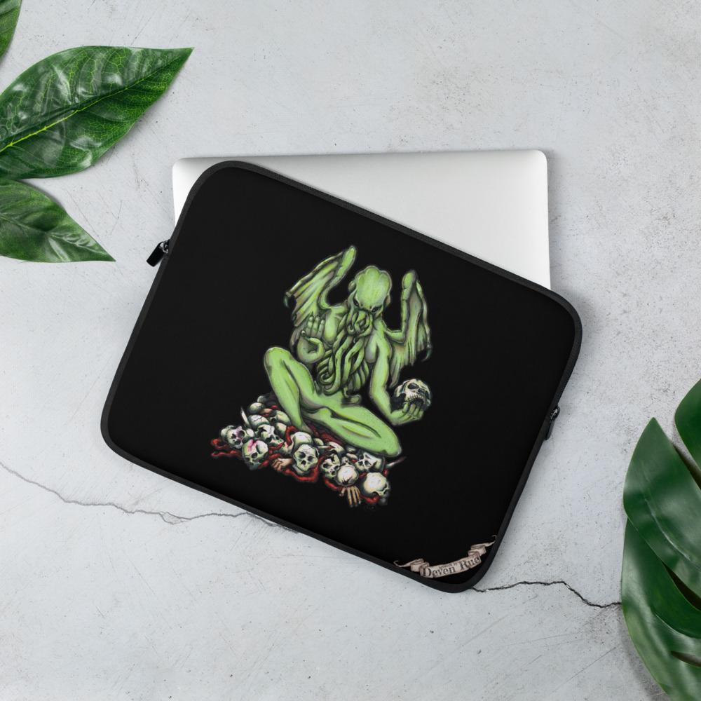 Buddhathulhu Laptop Sleeve Laptop Sleeve 13 in Deven Rue