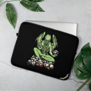 Buddhathulhu Laptop Sleeve Laptop Sleeve 15 in Deven Rue