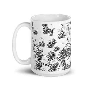 Cliffside Meadow Map Mug Mug Deven Rue