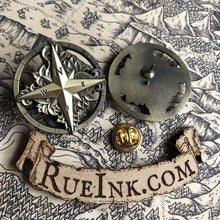 Load image into Gallery viewer, Compass Rose Metal Pin Pins Deven Rue