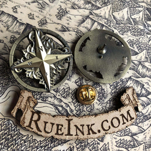Compass Rose Metal Pin Pins Deven Rue