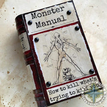 Load image into Gallery viewer, D&D Themed Prop Book Covers Monster Manual Deven Rue