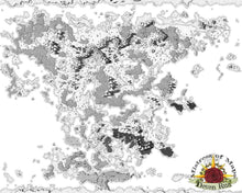 Load image into Gallery viewer, Dayeimbe Map Map Downloads Black & White w/o labels Deven Rue