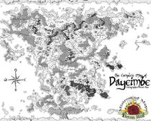 Load image into Gallery viewer, Dayeimbe Printed Map Prop Maps with text Deven Rue