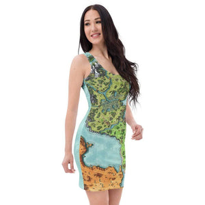 Euphoros Map Dress Deven Rue