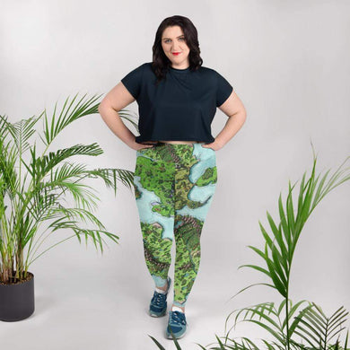 Euphoros Print Plus Size Leggings 2XL Deven Rue
