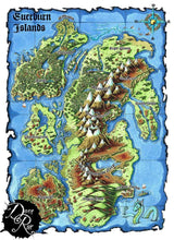 Load image into Gallery viewer, Everburn Islands Printed Map Prop Maps Deven Rue