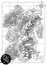 Load image into Gallery viewer, Everburn Islands Printed Map Prop Maps without text Deven Rue