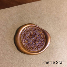 Load image into Gallery viewer, Faerie Star Wax Seals Props Deven Rue