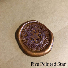 Load image into Gallery viewer, Five Point Star Wax Seals Props Deven Rue