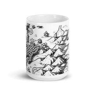 Heading to the Mines Map Mug Mug Deven Rue