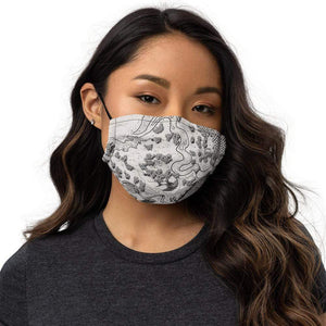 Humble Beginnings Map Face Mask Black Deven Rue