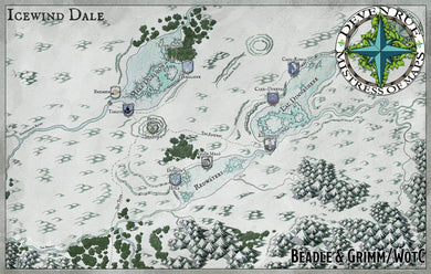Icewind Dale Map Map Downloads Deven Rue