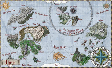 Ifiron Printed Map Prop Maps 36x22 Color with text Deven Rue