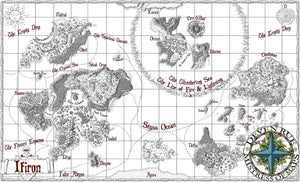 Ifiron Printed Map Prop Maps With text Deven Rue