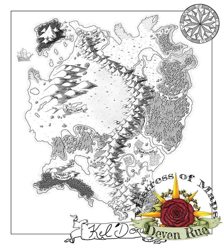 Kel'Dora Map Map Downloads Black & White Deven Rue