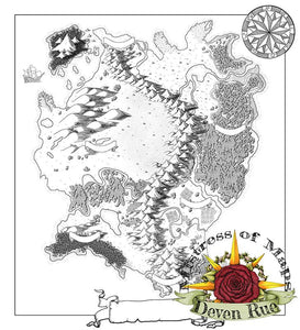 Kel'Dora Map Map Downloads Black & White w/o labels Deven Rue