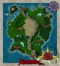 Load image into Gallery viewer, Kel'Dora Map Map Downloads Color Deven Rue