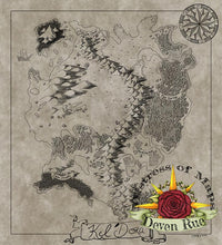Load image into Gallery viewer, Kel'Dora Map Map Downloads Parchment Deven Rue