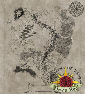Kel'Dora Map Map Downloads Parchment w/o labels Deven Rue