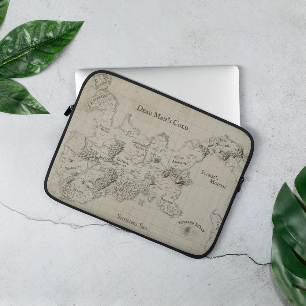Kroako Map Laptop Sleeve Laptop Sleeve 13 in Deven Rue