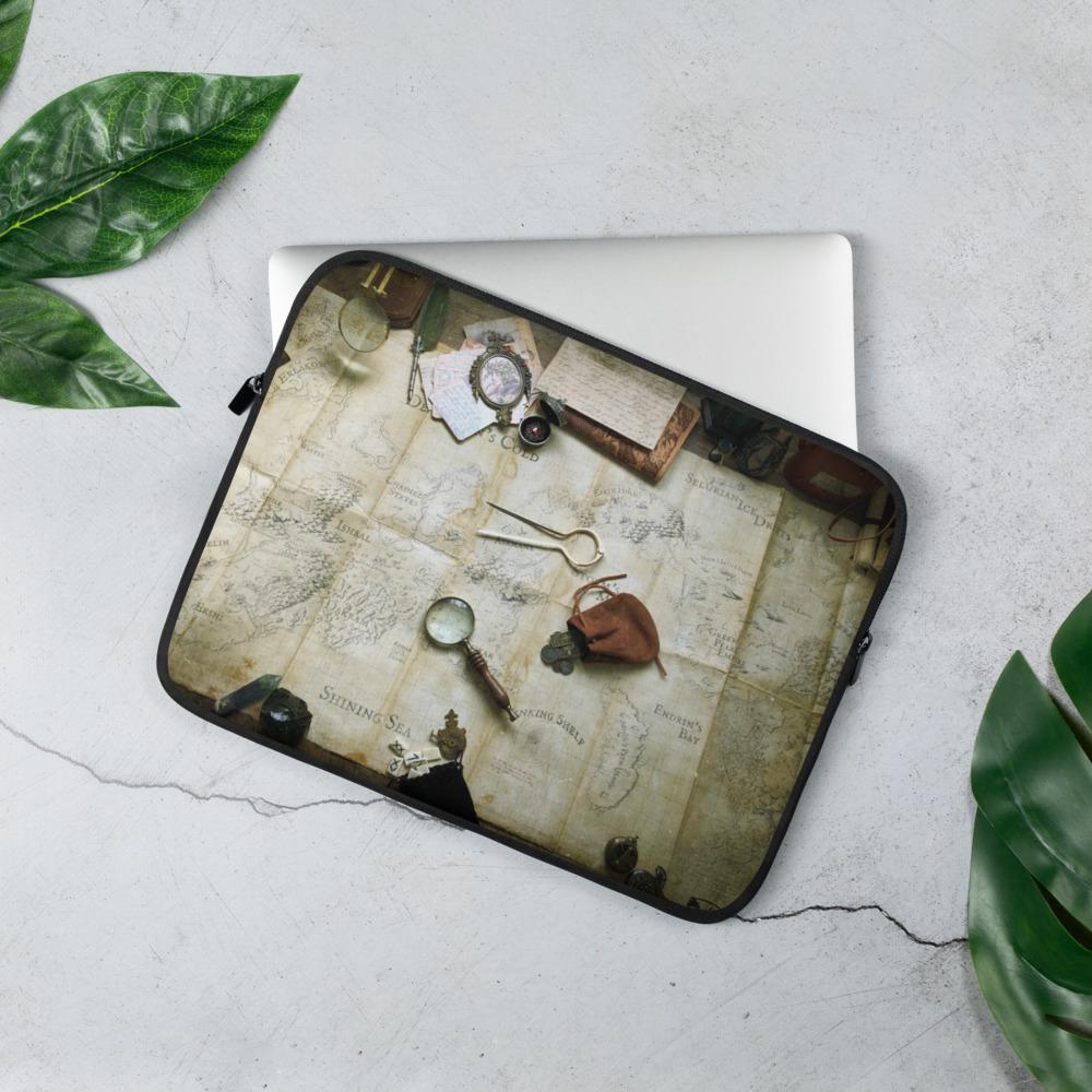Kroako Map Photography Laptop Sleeve Laptop Sleeve 13 in Deven Rue