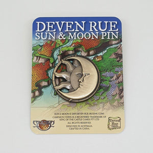 Moon & Sun Metal Pin Pins Deven Rue