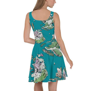 Ortheaid Map Skater Dress Deven Rue