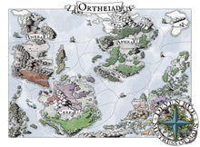 Load image into Gallery viewer, Ortheiad Printed Map Prop Maps 36x26 Color with text Deven Rue