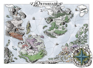 Ortheiad Printed Map Prop Maps 36x26 Color with text Deven Rue