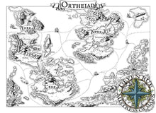 Load image into Gallery viewer, Ortheiad Printed Map Prop Maps With text Deven Rue